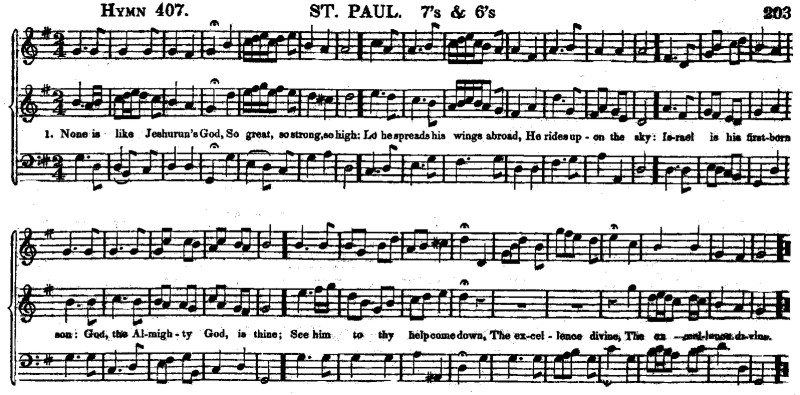 Example 6: ST. PAUL, from Sacred Harmony (Toronto, 1838)